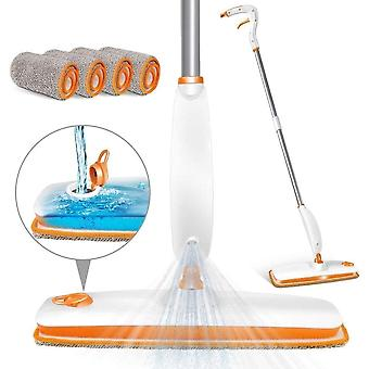 MASTERTOP Spray Floor Mop Cleaner with 220 Milliliter Refillable Water Tank Microfibre Cleaning Mop