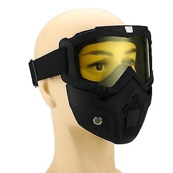 Schutzbrille mit Maske Windproof Anti-uv Brillenbrille Off-Road Helm