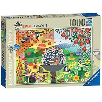 Ravensburger Puzzle Mi piacciono gli uccelli - Birdie Seasons 1000 pezzi