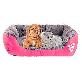 Varm Hyggelig Hund House Soft Fleece Nest Hund Kurve Mat Efterår Vinter Vandtæt