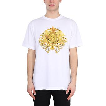 Versace Jeans Couture B3gwa74011620003 Heren's White Cotton T-shirt