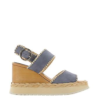 Paloma Barceló Vaudescamosciotabacgrey Women's Grey Suede Sandals