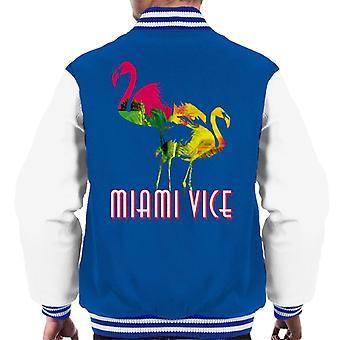 Miami Vice Flamingo Silhouette Men's Varsity Jacket