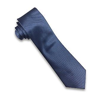 Carabou Fine Diagonal Stripe Blue Tie