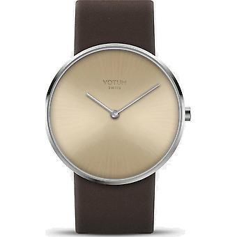 VOTUM - montre femme - CIRCLE - Pure - V01.10.50.03 - Bracelet en cuir - brun foncé