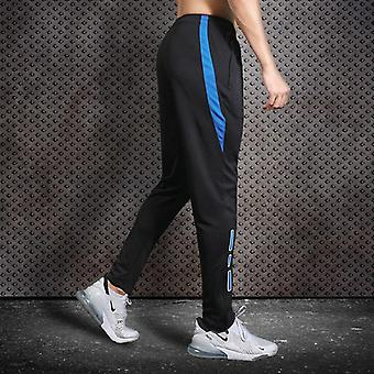 Men Running Pants With Zipper Pocket, Football Trousers Jogging Fitness Pants