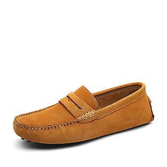Mocassins mous de mocassins, chaussures en cuir authentiques hommes chaussures chaudes chaussures de conduite