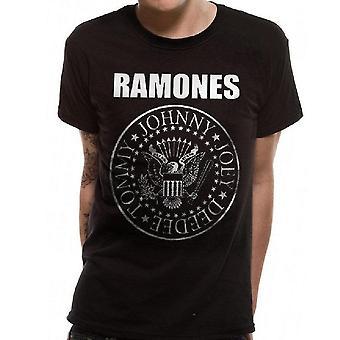 Ramones Unisex Adult Crest Camiseta