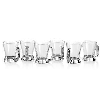 Silber Glitter Cup aus Metall, Glitter, Glas, A10 cm