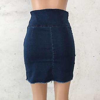Blå Jeans Kvinder Mini Blyant Denim Nederdel