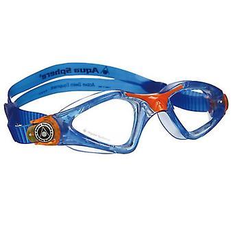 Aqua Sphere Kayenne Junior Swim Goggle - Clear Lens - Blue/Orange