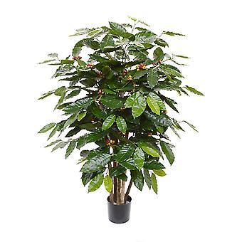 Kunstkoffie Arabica plant 100 cm