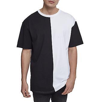 Urban Classics - HARLEQUIN Oversized Shirt black and white
