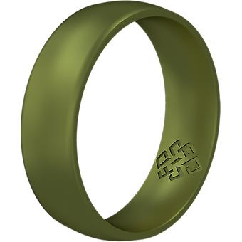 Crocodile Green Breathable Silicone Ring