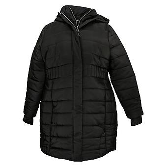 Zuda Women's Quilted Puffer With Interior Layer Jacket Black A388609