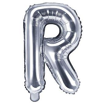 Globo de letras 53 cm, letra R - plata