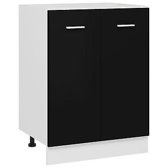 Bottom Cabinet Black 60x46x81.5 Cm Chipboard