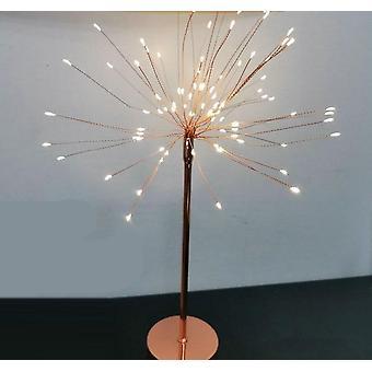 Diy الإبداعية الريشة مصباح الجدول ضوء أبيض دافئ