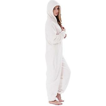 Winter Warm Pyjamas Women Onesies Fluffy Fleece Jumpsuits Sleepwear