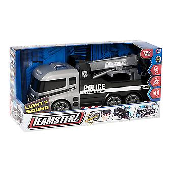 Teamsterz 1416396 Light And Sound Police Tow Truck Toy