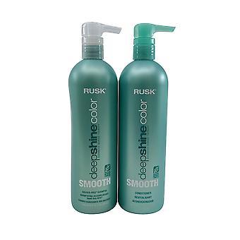 Rusk Deep Shine Color Smooth Shampoo & Conditioner Set 25 OZ Each