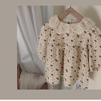 Korean Toddler Dress, Baby Floral Rompers Jumpsuit
