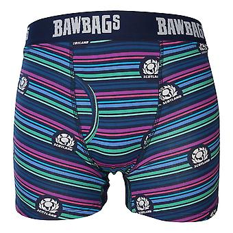Bawbags Originals Scotland Rugby Lines Boxer Shorts - Multi