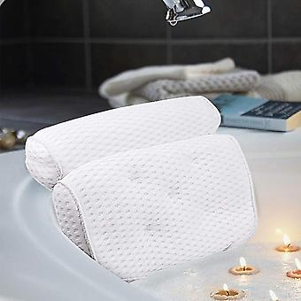 Bathtub Head Rest Pillow With Suction Cups For Neck And Back Bathroom
