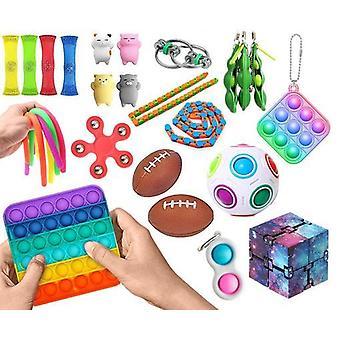 Nye PRO 26 stk. Fidget Pop it Toys Set-pakke til børn og voksne