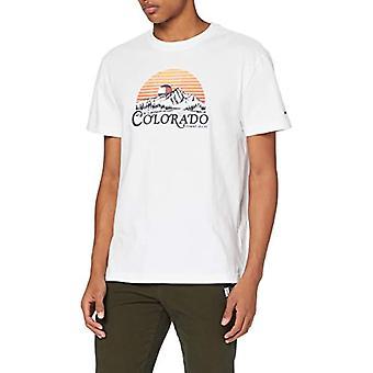 Tommy Jeans Tjm Colorado Grafisk Tee Skjorta, Vit, M Man