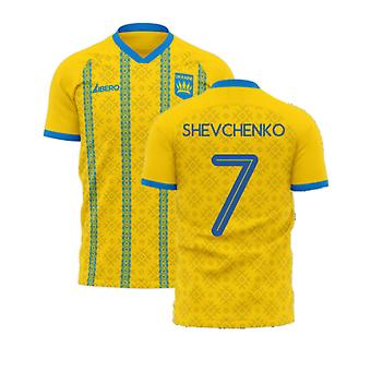 Oekraïne 2020-2021 Home Concept Football Kit (Libero) (SHEVCHENKO 7)
