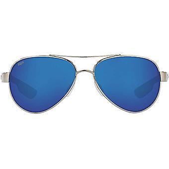 Costa Del Mar Womens Loreto Polarized Aviator Sunglasses - Palladium/Grey Blue Mirrored - 56 mm