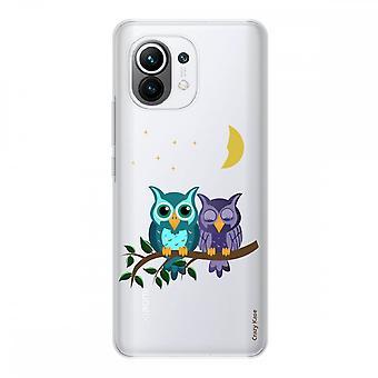 Hülle für Xiaomi Mi 11 Weich Silikon 1 Mm, Mondlicht-Eule