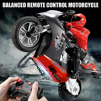 Mini Motorcycle Toy Kids Electric Remote Control RC 2.4Ghz Racing Motorbike for Children(Red)