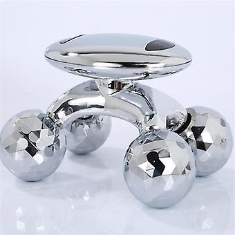 4D Roller Massager Solar Micro Shaping  Anti Cellulite Roller Beauty Care|Massage Roller(Silver)