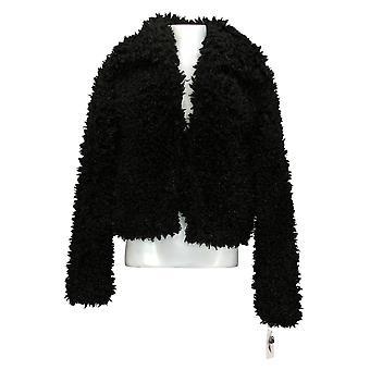 Jessica Simpson Mujer Sasha Teddy Coat Negro 720700