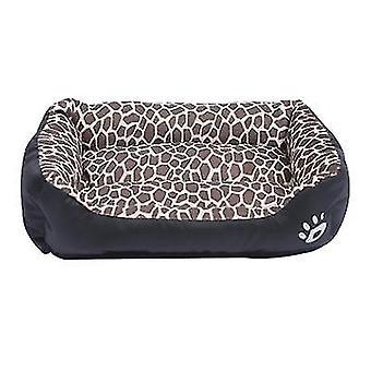 S 43 * 32cm leopardo estampado gato mascota, cama de perro, nido de mascota suave y cómodo az21838