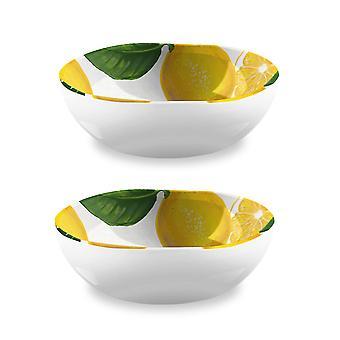 Epicurean Lemon Fresh Set of 2 Melamine Bowls