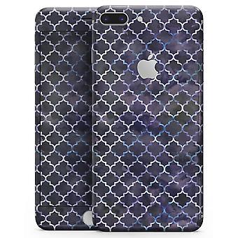 Tief lila Aquarell Quatrefoil - Skin-Kit für das Iphone 8 oder 8