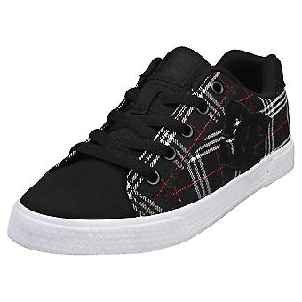 DC Shoes Chelsea Womens Fashion Trainers in Black Plaid