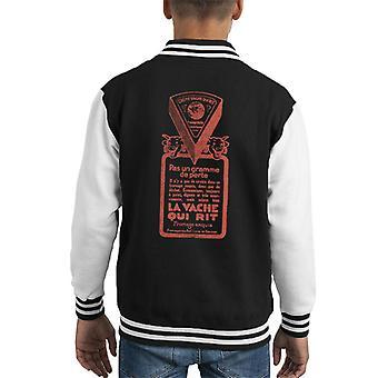 Den grinende Cow Pas Un Gramme De Perte Kid's Varsity Jacket