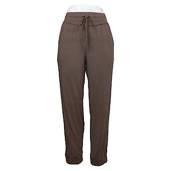 AnyBody 女性用パンツ Reg コージー ニット ラックス と 湾曲ヨーク ブラウン A392851