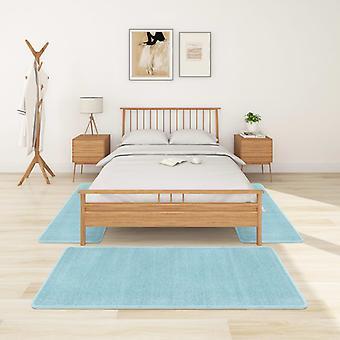 vidaXL عالية كومة حصيرة السرير 3 PCS. الفيروز الأزرق
