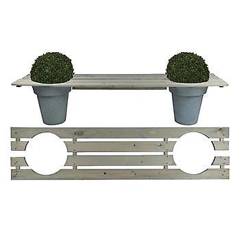 Esschert Design Bench for 2 flower pots 180 cm NG71