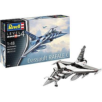 RV03901 Modellbausatz Dassault Aviation Rafale C, Flugzeug im Maßstab 1:48, Level 4, orginalgetreue