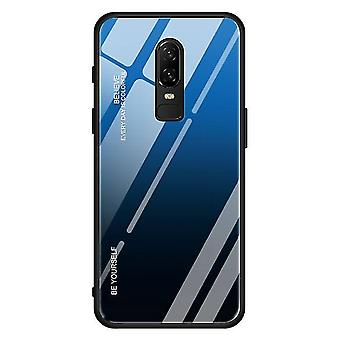 Single Shockproof Tempered Glass Case for One Plus 7T Pro - Blue & Black