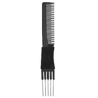 Double-ended 2 gebruik haarverf kleurstof kam plastic metalen haarverf borstels kapperssalon