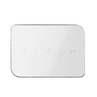 Caricabatterie wireless per telefoni cellulari 6 in1, caricabatterie per cuffie orologio multifunzione (bianco)