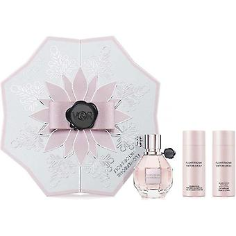 Viktor & rolf flowerbomb presentset 50ml edp + 50ml parfymerad kroppskräm + 50ml parfymerad duschgel