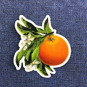 Orange Blossom Vinyl Sticker